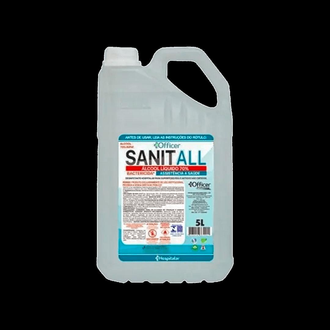 Álcool Liquido 70% Sanit All 5L