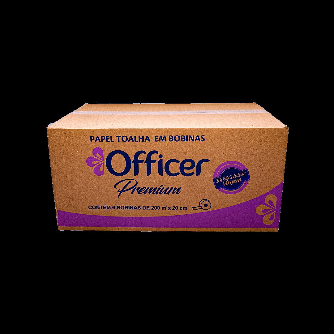 Papel Toalha Em Bobinas Officer Premium 200m