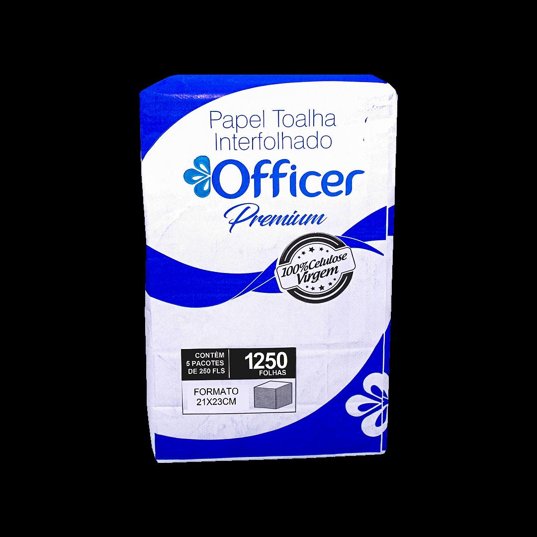 Papel Toalha Interfolhado Officer Premium 21cmx23cm 1250 Folhas